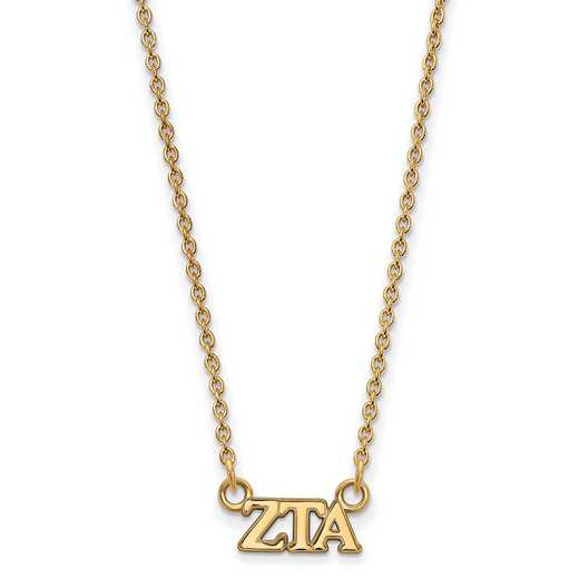 GP006ZTA-18: 925 YGFP Logoart ZTA Necklace