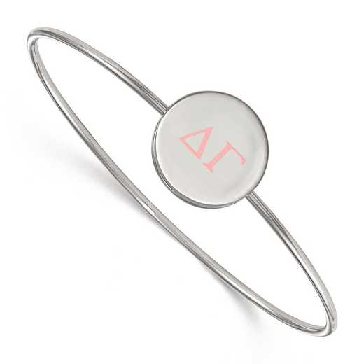 SS023DG-7: StrlngSlvr LogoArt Delta Gamma Enameled Slip-on Bangle