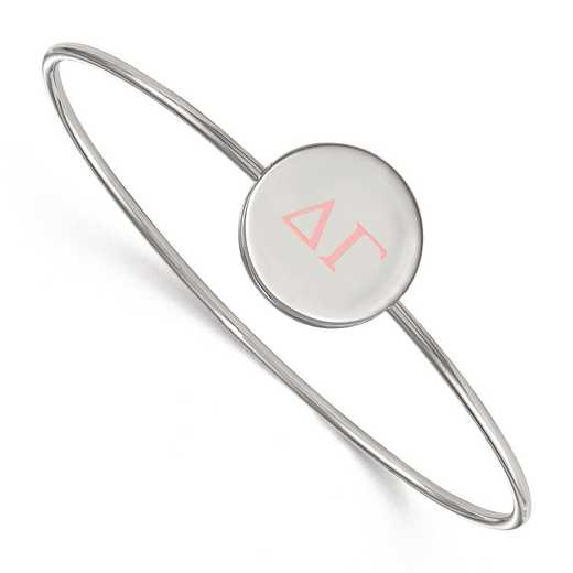 SS023DG-8: StrlngSlvr LogoArt Delta Gamma Enameled Slip-on Bangle