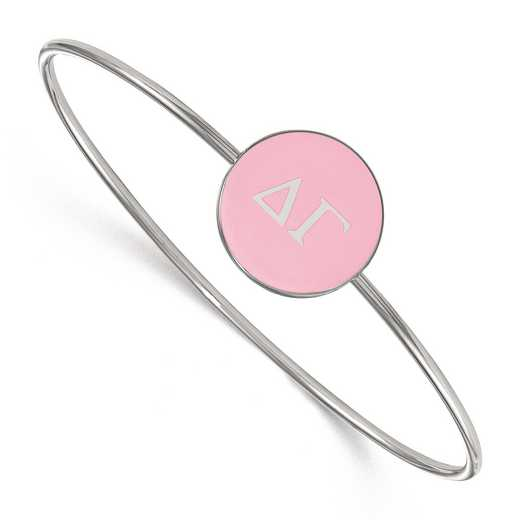 SS024DG-7: StrlngSlvr LogoArt Delta Gamma Enameled Slip-on Bangle
