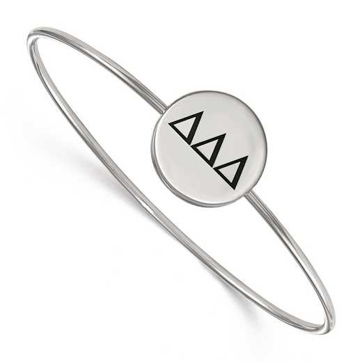 SS025DDD-8: StrlngSlvr LogoArt Delta Delta Delta Enameled Slip-on Bangle