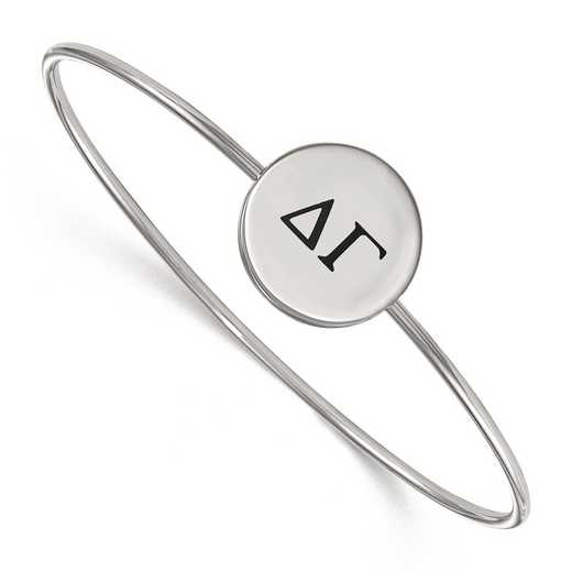 SS025DG-7: StrlngSlvr LogoArt Delta Gamma Enameled Slip-on Bangle