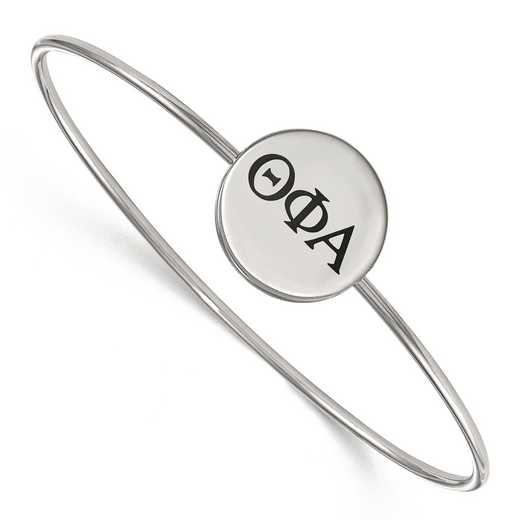 SS025TPA-7: StrlngSlvr LogoArt Theta Phi Alpha Enameled Slip-on Bangle