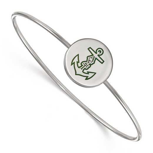 SS048ALS-8: StrlngSlvr LogoArt Alpha Sigma Tau Enameled Slip-on Bangle