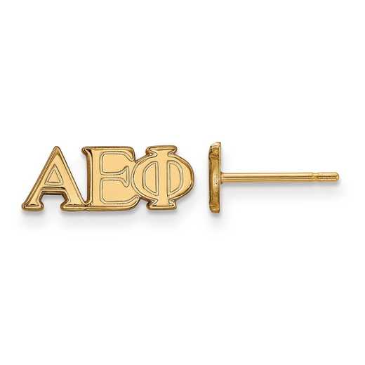 GP005AEP: SS w/GP LogoArt Alpha Epsilon Phi XS Post Earrings