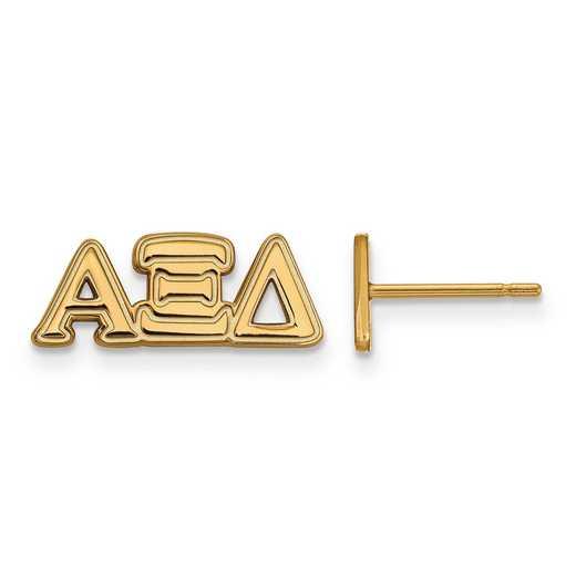 GP005AXD: SS w/GP LogoArt Alpha Xi Delta XS Post Earrings