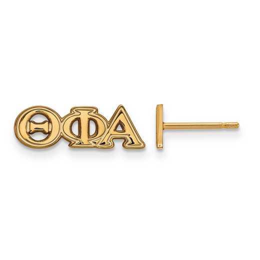 GP005TPA: SS w/GP LogoArt Theta Phi Alpha XS Post Earrings