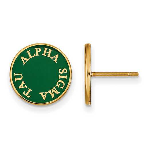 GP019ALS: SS w/GP LogoArt Alpha Sigma Tau Enameled Post Earrings