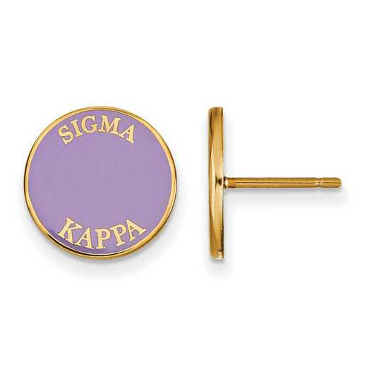 GP019SKP: SS w/GP LogoArt Sigma Kappa Enameled Post Earrings