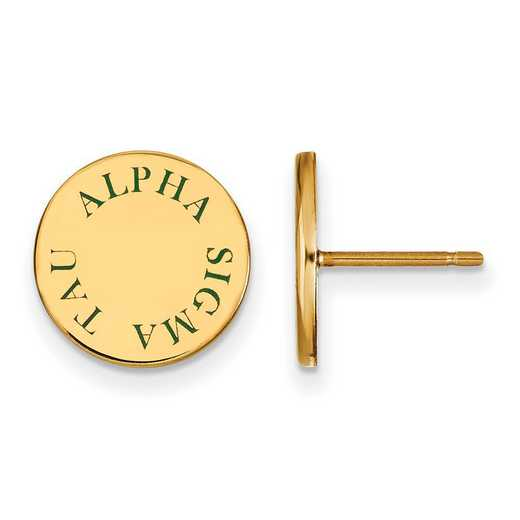 GP020ALS: SS w/GP LogoArt Alpha Sigma Tau Enameled Post Earrings