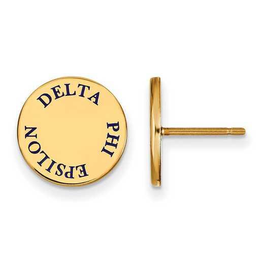GP020DPH: SS w/GP LogoArt Delta Phi Epsilon Enameled Post Earrings
