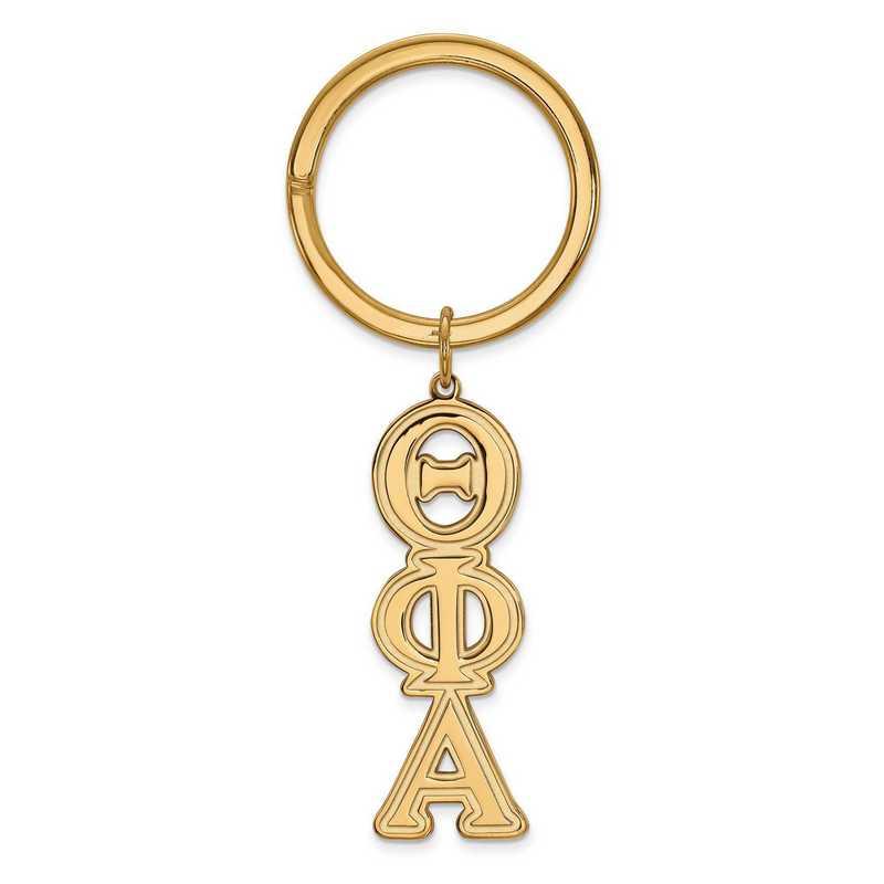 GP010TPA: SS w/GP LogoArt Theta Phi Alpha Key Chain