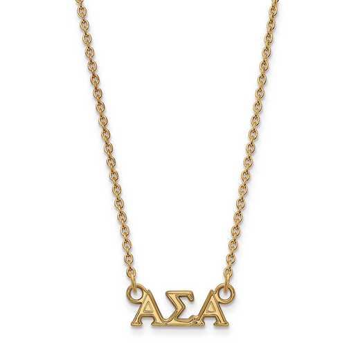 GP006ASI-18: SS w/GP LogoArt Alpha Sigma Alpha XS Pend w/Necklace