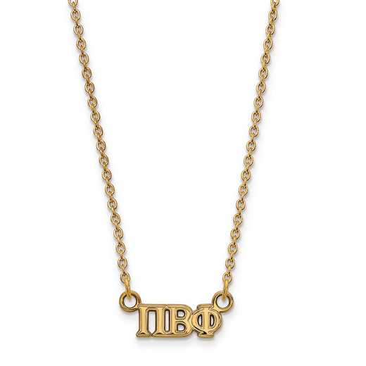 GP006PBP-18: SS w/GP LogoArt Pi Beta Phi XS Pend w/Necklace