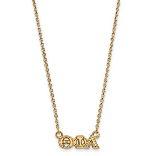GP006TPA-18: SS w/GP LogoArt Theta Phi Alpha XS Pend w/Necklace
