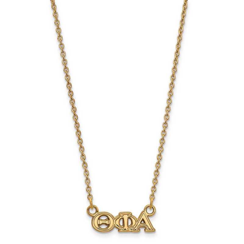GP006TPA-18: SS w/GP LogoArt Theta Phi Alpha XS Pend w/Necklace