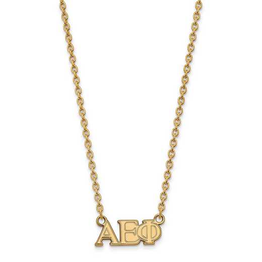 GP007AEP-18: SS w/GP LogoArt Alpha Epsilon Phi Medium Pend w/Necklace