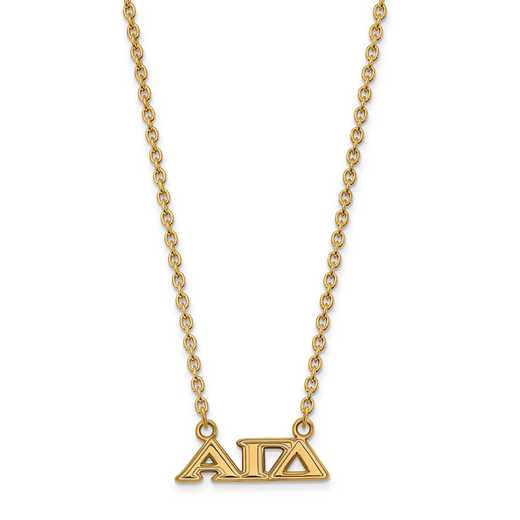 GP007AGD-18: SS w/GP LogoArt Alpha Gamma Delta Small Pend w/Necklace
