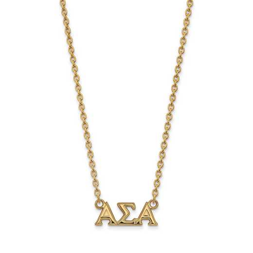 GP007ASI-18: SS w/GP LogoArt Alpha Sigma Alpha Medium Pend w/Necklace
