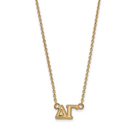 GP007DG-18: SS w/GP LogoArt Delta Gamma Medium Pend w/Necklace