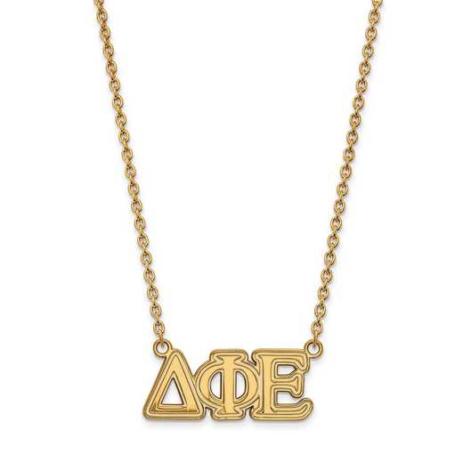 GP007DPH-18: SS w/GP LogoArt Delta Phi Epsilon Medium Pend w/Necklace