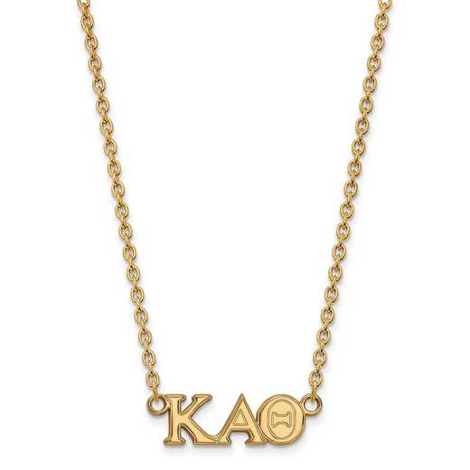 GP007KAT-18: SS w/GP LogoArt Kappa Alpha Theta Medium Pend w/Necklace