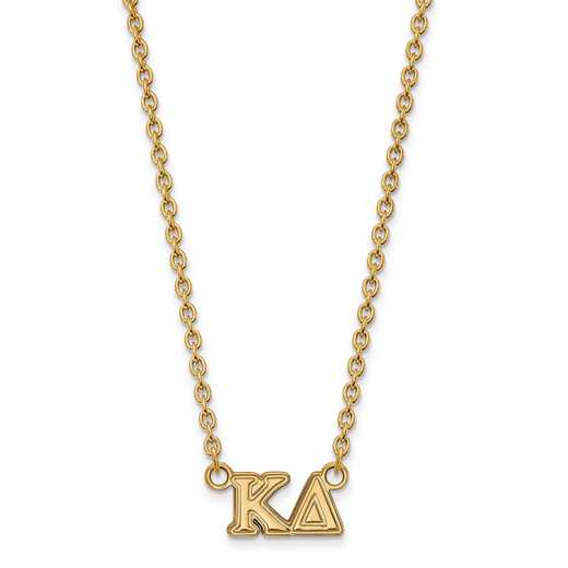 GP007KD-18: SS w/GP LogoArt Kappa Delta Medium Pend w/Necklace
