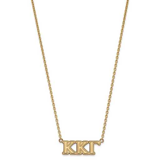 GP007KKG-18: SS w/GP LogoArt Kappa Kappa Gamma Medium Pend w/Necklace