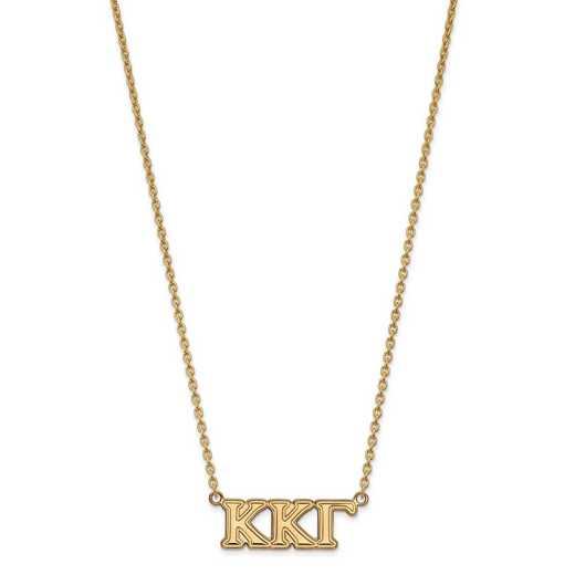 GP007KKG-18: SS w/GP LogoArt Kappa Kappa Gamma Medium Pend w/Necklace