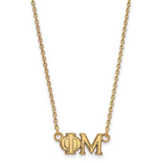 GP007PHM-18: SS w/GP LogoArt Phi Mu Medium Pend w/Necklace