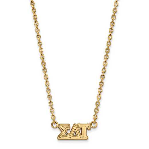 GP007SDT-18: SS w/GP LogoArt Sigma Delta Tau Medium Pend w/Necklace