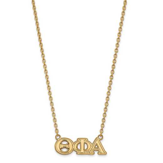 GP007TPA-18: SS w/GP LogoArt Theta Phi Alpha Medium Pend w/Necklace