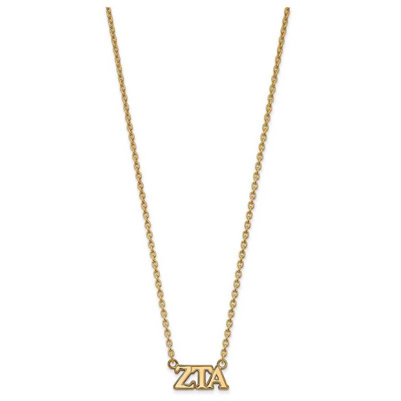 GP007ZTA-18: SS w/GP LogoArt Zeta Tau Alpha Medium Pend w/Necklace