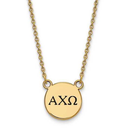 GP016ACO-18: SS w/GP LogoArt Alpha Chi Omega Small Enl Pend w/Necklace