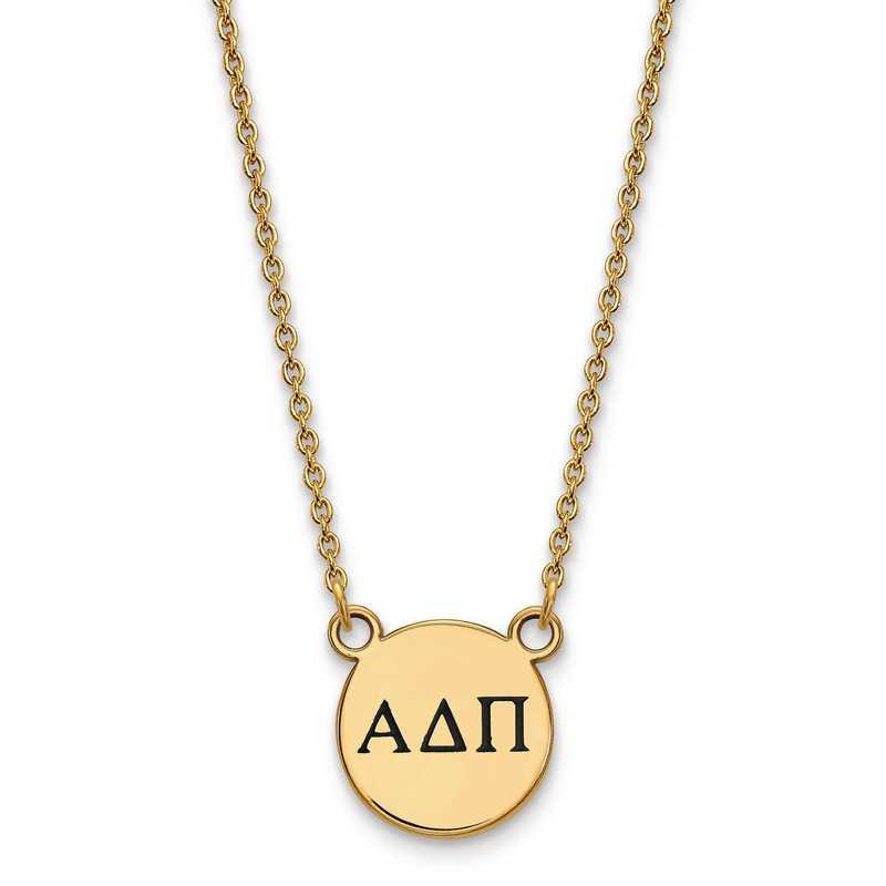LogoArt Alpha Delta Pi Small Enameled Pendant w//Chain 18 Inch Chain