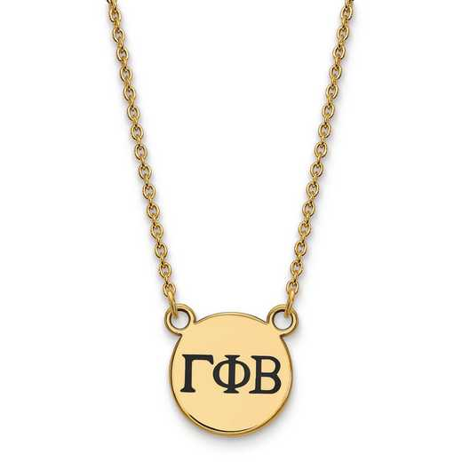GP016GPB-18: SS w/GP LogoArt Gamma Phi Beta Sm Enl Pend w/Necklace