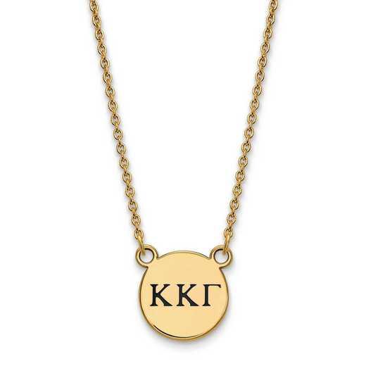 GP016KKG-18: SS w/GP LogoArt Kappa Kappa Gamma Sm Enl Pend w/Necklace
