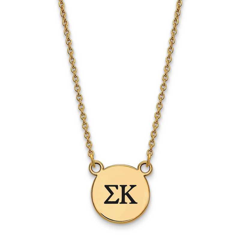 GP016SKP-18: SS w/GP LogoArt Sigma Kappa Sm Enl Pend w/Necklace