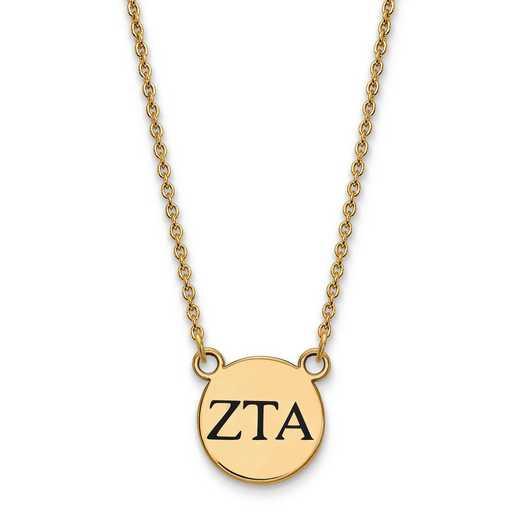 GP016ZTA-18: SS w/GP LogoArt Zeta Tau Alpha Sm Enl Pend w/Necklace
