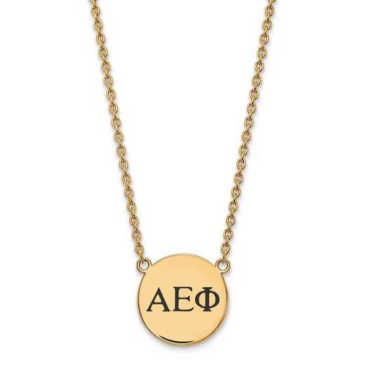 GP017AEP-18: SS w/GP LogoArt Alpha Epsilon Phi Small Enl Pend w/Necklace