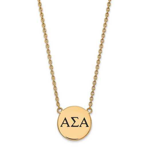 GP017ASI-18: SS w/GP LogoArt Alpha Sigma Alpha Large Enl Pend w/Necklace