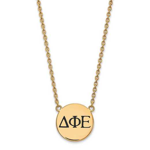 GP017DPH-18: SS w/GP LogoArt Delta Phi Epsilon Large Enl Pend w/Necklace