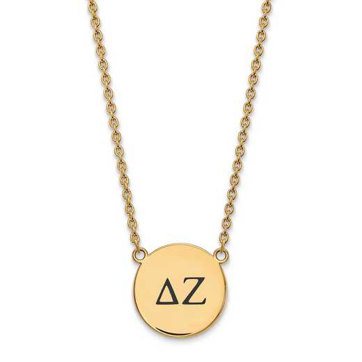 GP017DZ-18: SS w/GP LogoArt Delta Zeta Large Enl Pend w/Necklace