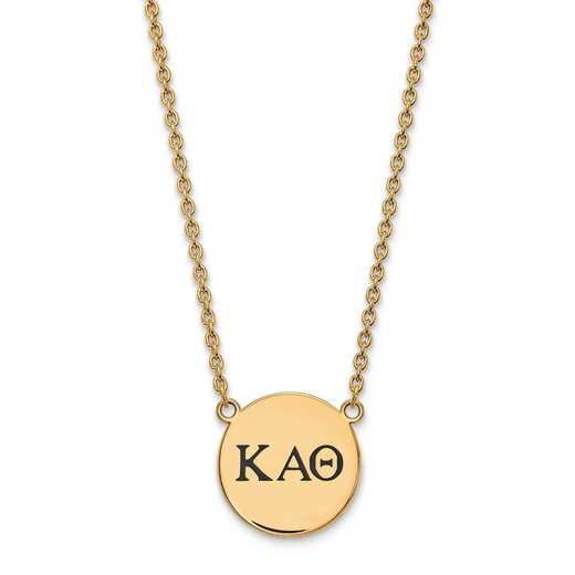 GP017KAT-18: SS w/GP LogoArt Kappa Alpha Theta Large Enl Pend w/Necklace