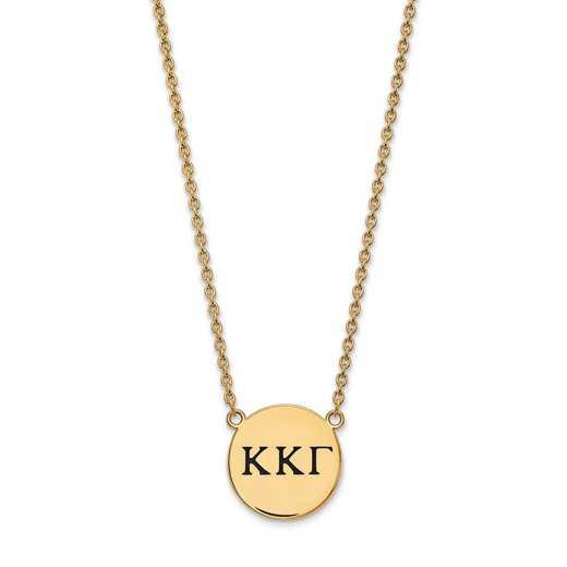 GP017KKG-18: SS w/GP LogoArt Kappa Kappa Gamma Large Enl Pend w/Necklace