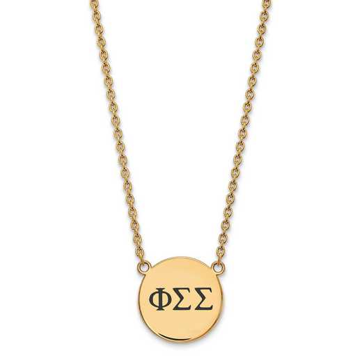 GP017PSS-18: SS w/GP LogoArt Phi Sigma Sigma Large Enl Pend w/Necklace