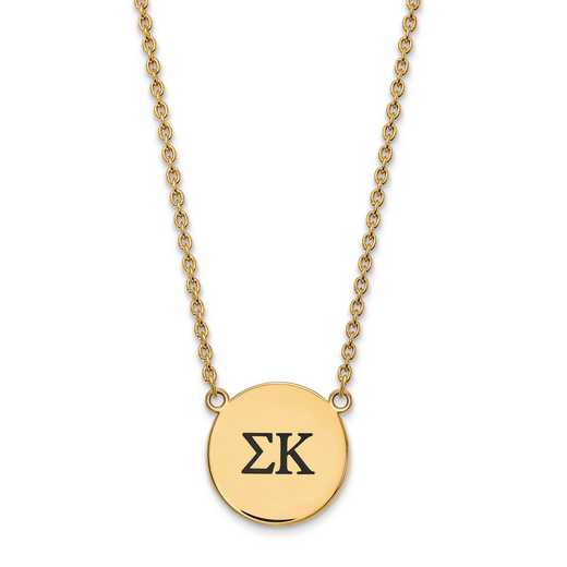 GP017SKP-18: SS w/GP LogoArt Sigma Kappa Large Enl Pend w/Necklace
