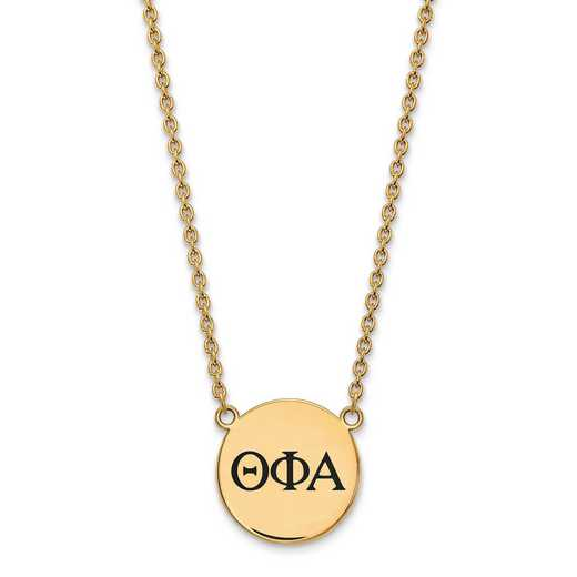 GP017TPA-18: SS w/GP LogoArt Theta Phi Alpha Large Enl Pend w/Necklace
