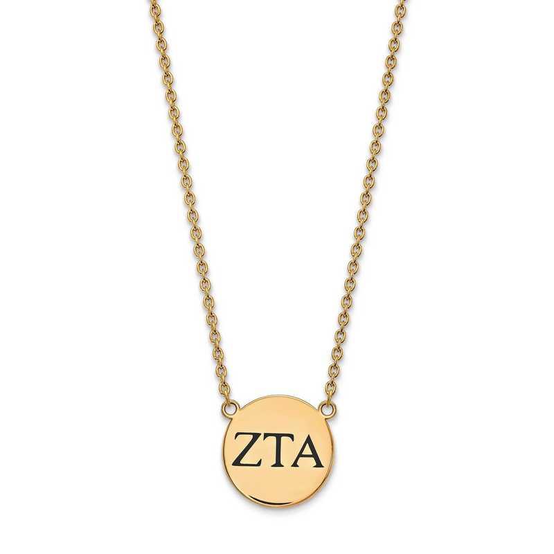 GP017ZTA-18: SS w/GP LogoArt Zeta Tau Alpha Large Enl Pend w/Necklace