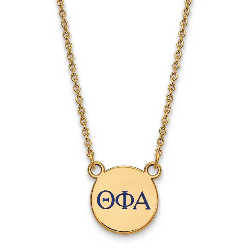 GP027TPA-18: SS w/GP LogoArt Theta Phi Alpha Sm Enl Pend w/Necklace